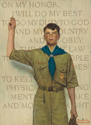Norman Rockwell - I Will Do My Best, 1945