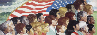 Norman Rockwell - Spirit of America, 1974